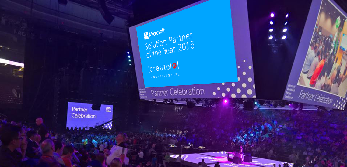 Create IT awarded by Microsoft as Solution Partner of the Year 2016