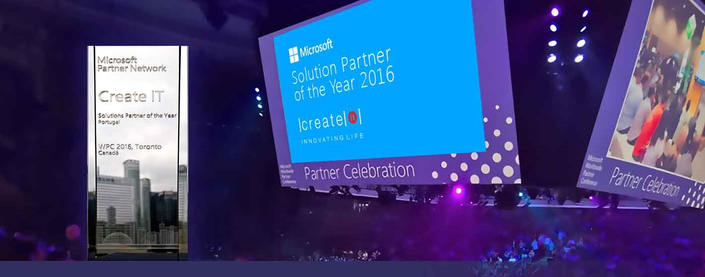 Create IT premiada pela Microsoft como Solution Partner of the Year 2016