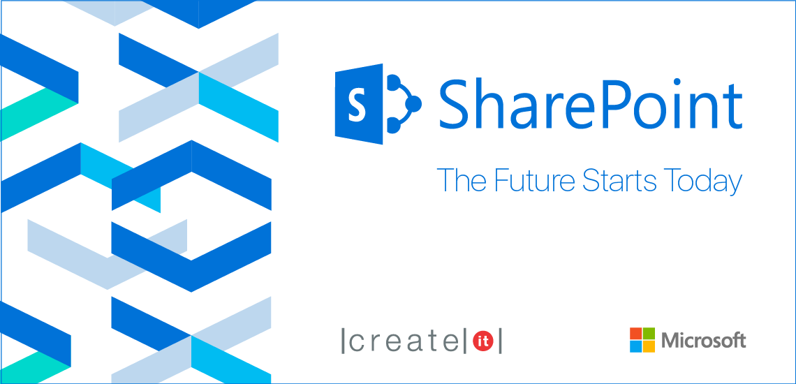"Create IT e Microsoft promovem workshop ""SharePoint 2016 – The Future Starts Today"""