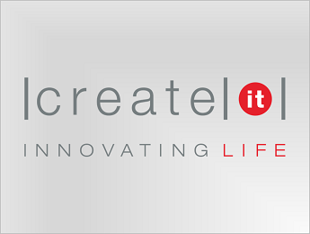 Create IT logo in color on transparent background PNG