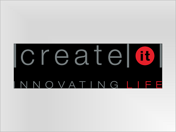 Create IT logo with color on black background JPEG