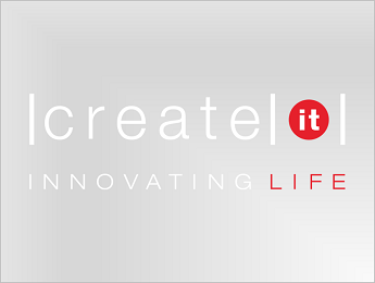 Create IT logo in color, negative, on transparent background PNG