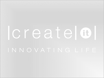 Create IT logo in white on transparent background PNG