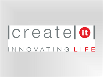 Create IT logo with color on white background JPEG