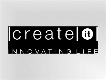 Create IT logo in white on black background JPEG