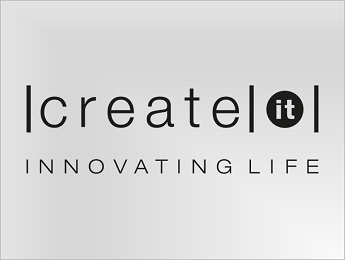 Create IT logo in black on transparent background PNG