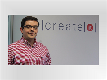 Nuno Guerra, CEO da Create IT, na horizontal